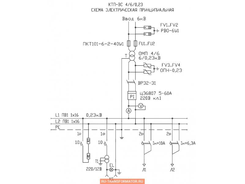 Подстанция КТП-ВС 4/6 фото чертежи от завода производителя