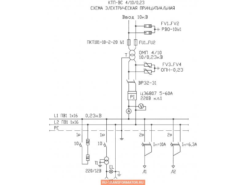 Подстанция КТП-ВС 4/10 фото чертежи от завода производителя