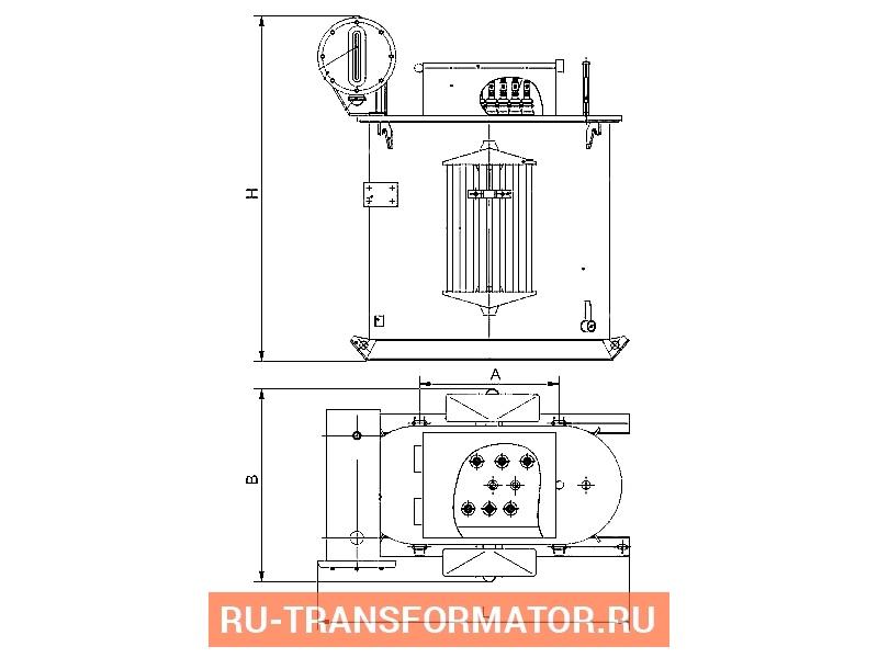 Трансформатор ТМПН 160 фото чертежи от завода производителя