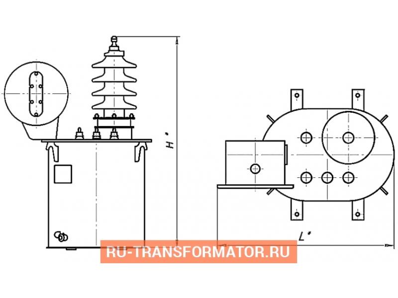 Трансформатор ОМЖ 10/27,5 фото чертежи от завода производителя