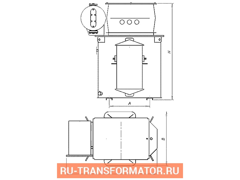 Трансформатор ТМЭ 160/6/0,4 фото чертежи от завода производителя