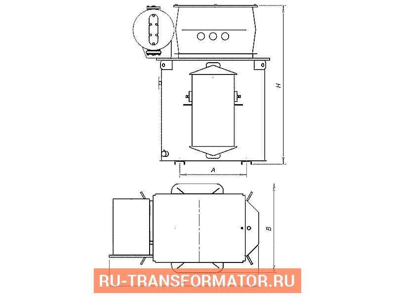 Трансформатор ТМЭ 160/10/0,4 фото чертежи от завода производителя