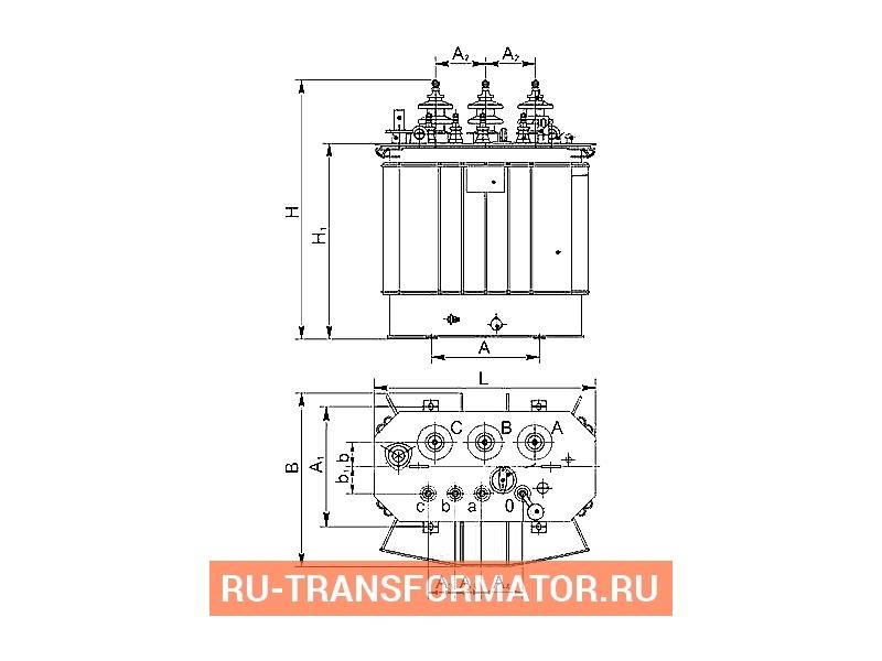 Трансформатор ТМГСУ 100 6 0,4 фото чертежи от завода производителя