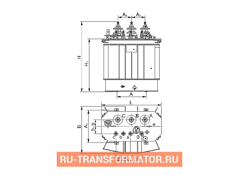 Трансформатор ТМГСУ 160 10 0,4 фото чертежи от завода производителя