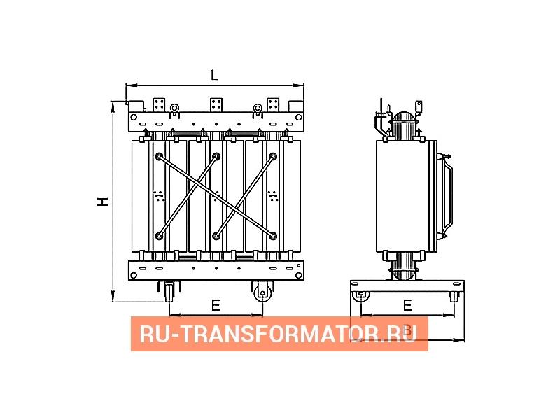 Трансформатор ТСЛ 1250/10/0,4 фото чертежи от завода производителя