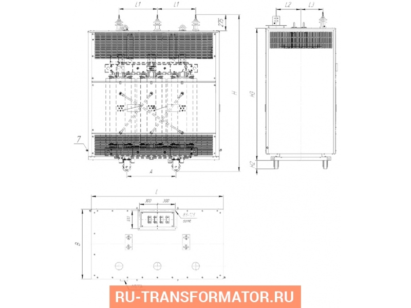 Трансформатор ТСЗЛ 1000/6/0,4 фото чертежи от завода производителя