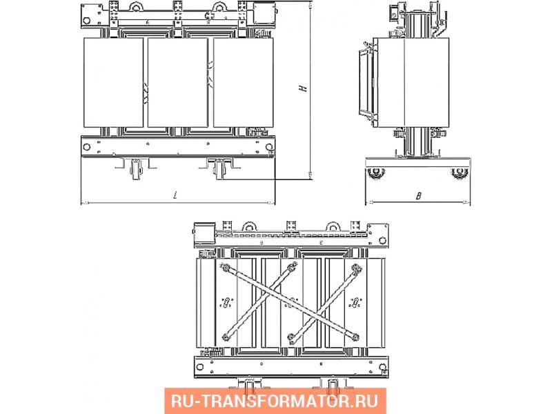 Трансформатор ТСЗГЛ 1000/6/0,4 фото чертежи от завода производителя