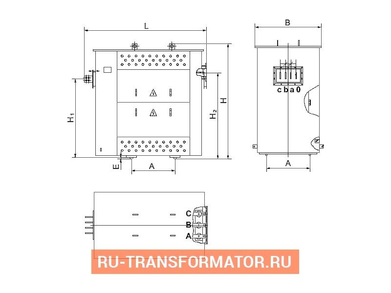 Трансформатор ТСЗГЛФ 250/10/0,4 фото чертежи от завода производителя