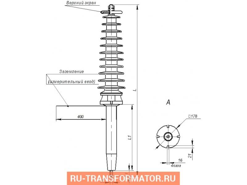 Ввод полимерный ВКП - 35 фото чертежи от завода производителя