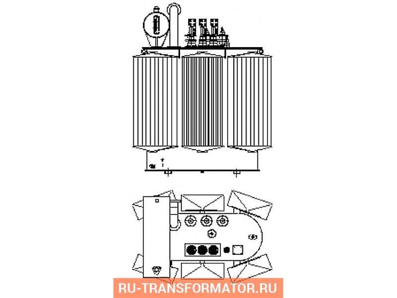 Трансформатор ТМ 1000 10 0,4 фото чертежи от завода производителя