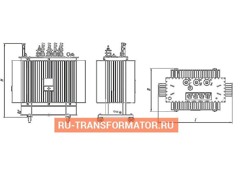 Трансформатор ТМГ 100 10 0,4 фото чертежи от завода производителя