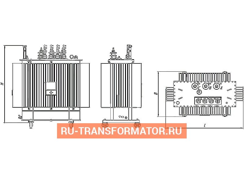 Трансформатор ТМГ 100 6 0,4 фото чертежи от завода производителя