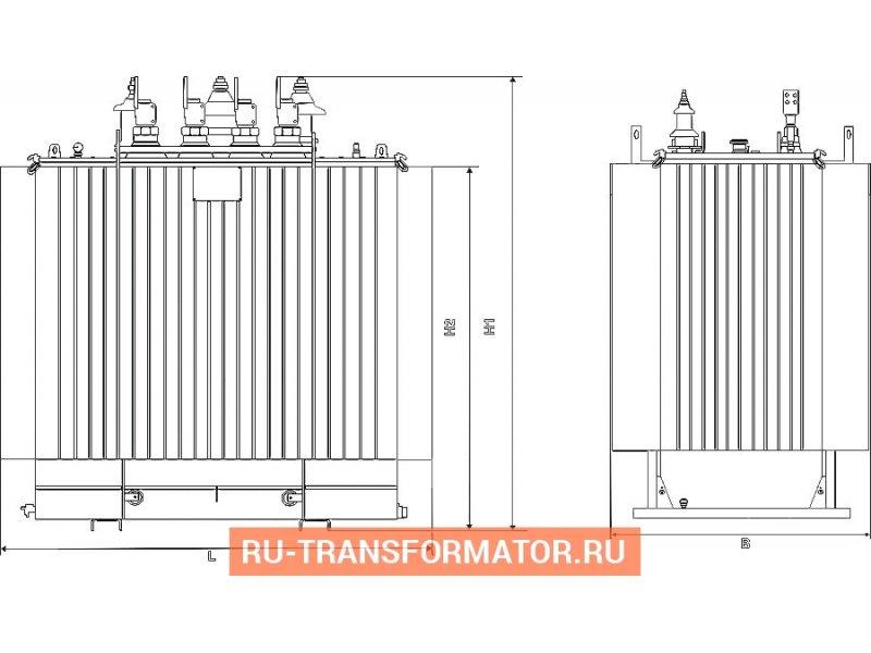 Трансформатор ТМГ 160 10 0,4 фото чертежи от завода производителя