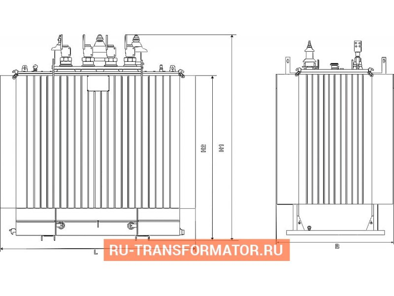 Трансформатор ТМГ 400 10 0,4 фото чертежи от завода производителя