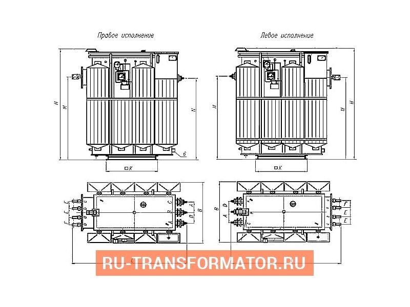 Трансформатор ТМЗ 1600 6 0,4 фото чертежи от завода производителя