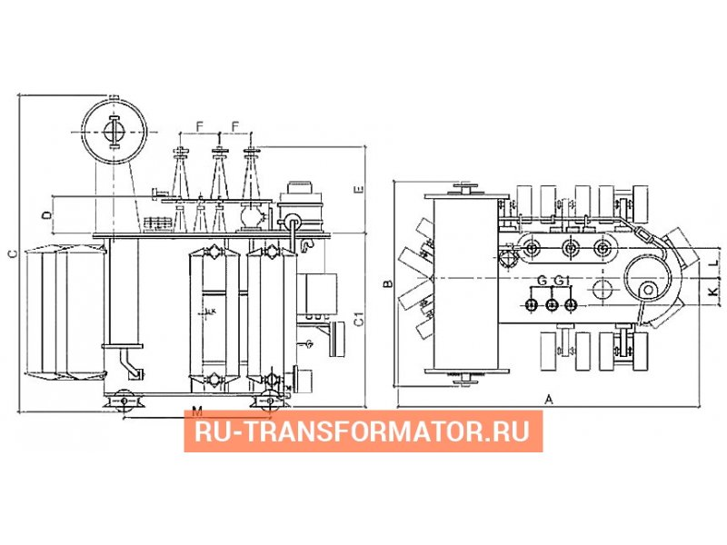 Трансформатор ТМН 4000 35 6 фото чертежи от завода производителя