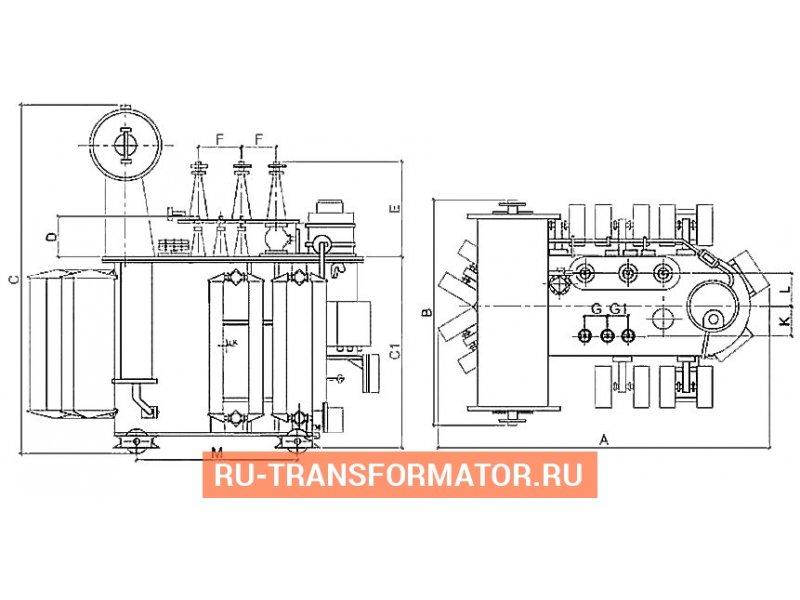 Трансформатор ТМН 4000 35 10 фото чертежи от завода производителя