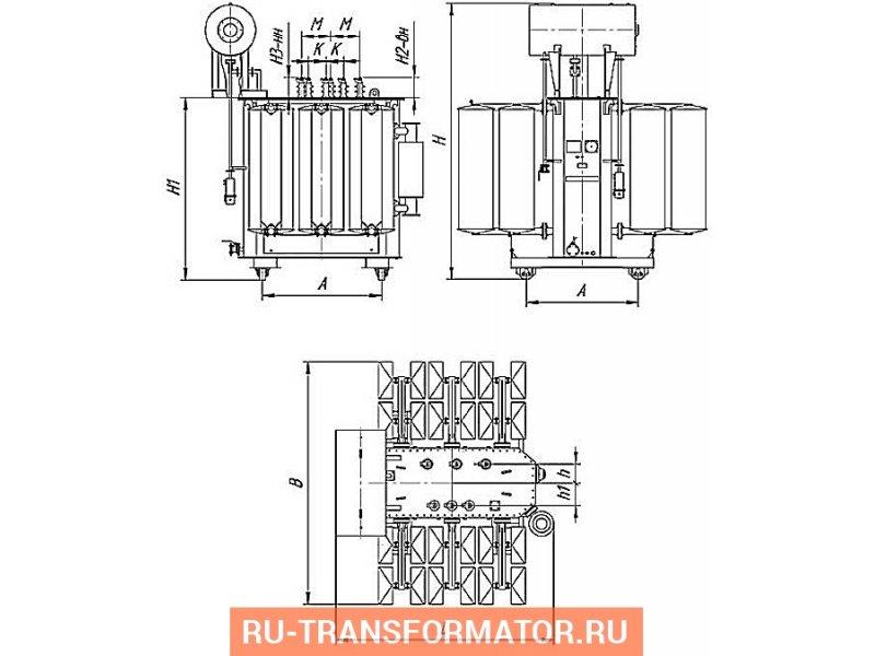 Трансформатор 6300 кВА фото чертежи от завода производителя