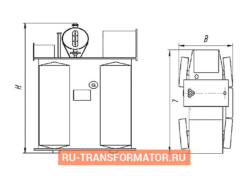 Трансформатор ТМФ 250 10 0,4 фото чертежи от завода производителя