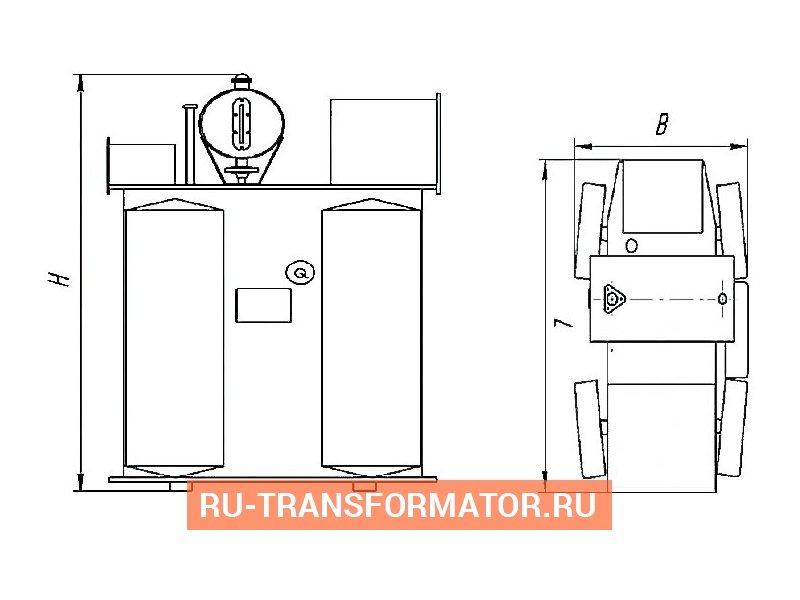 Трансформатор ТМФ 1000 6 0,4 фото чертежи от завода производителя
