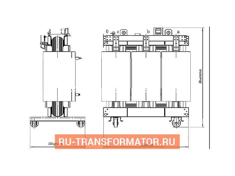 Трансформатор ТС 630/10/0,4 фото чертежи от завода производителя