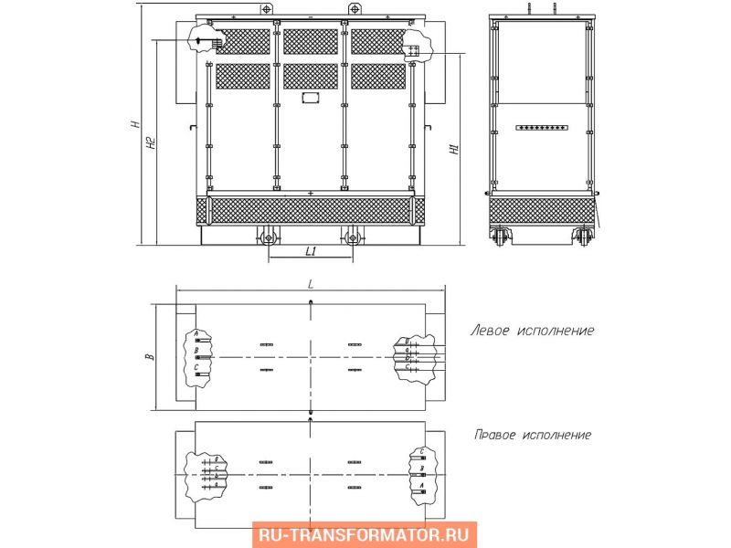 Трансформатор ТСЗ 630/10/0,4 фото чертежи от завода производителя