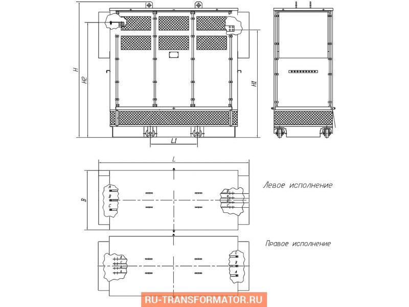 Трансформатор ТСЗ 630/6/0,4 фото чертежи от завода производителя