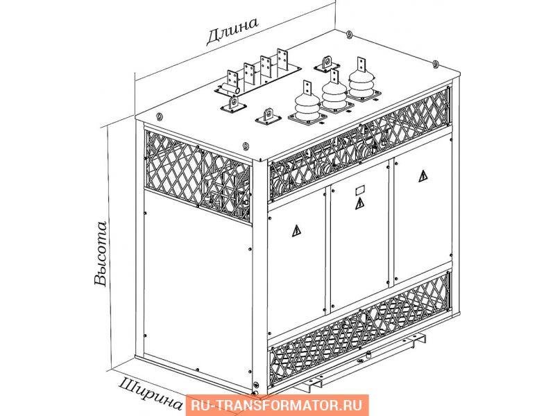 Трансформатор ТСЗ 1250/10/0,4 фото чертежи от завода производителя
