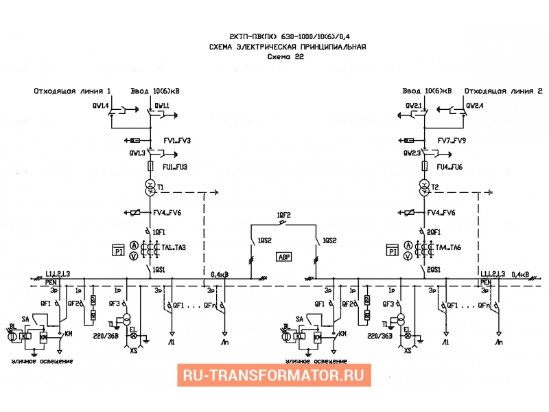 Подстанция 2КТП-ПВ 630/6/0,4 фото чертежи от завода производителя