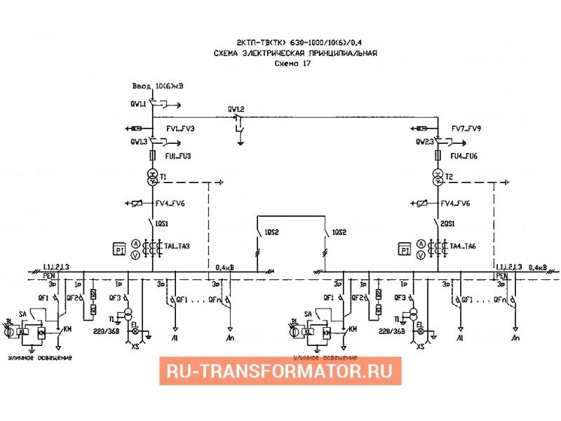 Подстанция 2КТП-ТВ 630/6/0,4 фото чертежи от завода производителя